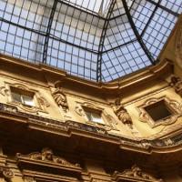 In een galerij van Milaan