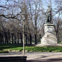 Standbeeld in de Giardini Pubblici