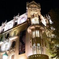 Nachtbeeld van de Fundació la Caixa
