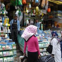 Kraam op de Grand Bazaar