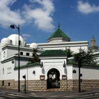 Straathoek aan de Grande Mosquée de Paris