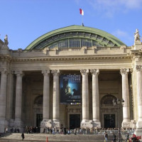Beeld op het Grand Palais