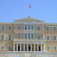 Voorgevel van het Grieks Parlement