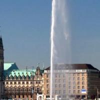 Fontein op de Alstermeren