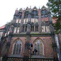 Muur van de St. Katharinenkirche