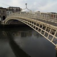 Beeld op de Ha'penny Bridge