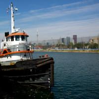 Boot in het Harbourfront