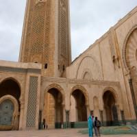 Zicht op de Hassan II Moskee