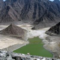 Zicht op het Hajargebergte
