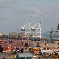 Containers in de haven van Miami