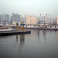 Zicht op de haven van Casablanca