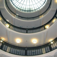 Interieur van de bibliotheek van Helsinki