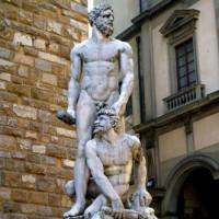 Beeld op de Piazza della Signoria