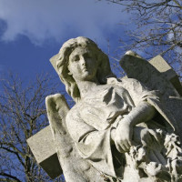 Engelenbeeld op de Highgate Cemetery