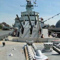 Kanonnen op de HMS Belfast