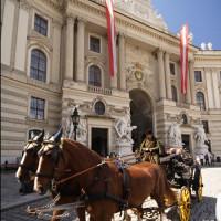 Koets voor het Hofburg