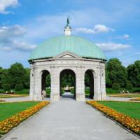Bouwwerk in de Hofgarten