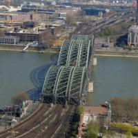 Totaalbeeld van de Hohenzollernbrücke
