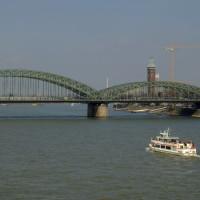 Zicht op de Hohenzollernbrücke