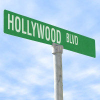 Naambord van de Hollywood Boulevard