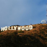 Antenne langs het Hollywood Sign