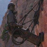 Werkman bij de Hoover Dam
