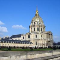 Zijaanzicht van het Hôtel des Invalides