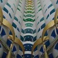 Binnen in de Burj al Arab