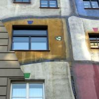 Detail van het Hundertwasserhaus
