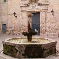 Binnenplaats van de Iglesia de Sant Felip Neri