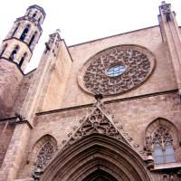 Detail van de Iglesia de Santa Maria del Pi