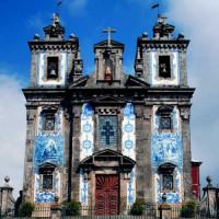 Gevel van de Igreja de Santo Ildefonso