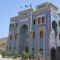 Buiten aan de Iraanse Moskee