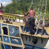 Deel van een piratenschip