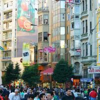 Zicht op de Istiklal Caddesi