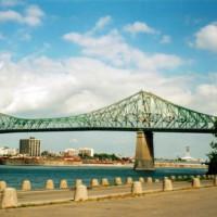 Metalen brug in Montreal