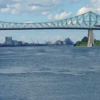 Zijkant van de Jacques Cartier-brug