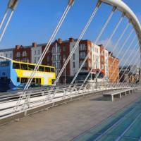 Structuur van de James Joyce Bridge