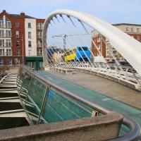 Beeld van de James Joyce Bridge