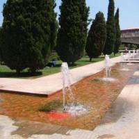 Fonteinen in de Jardines del Turia