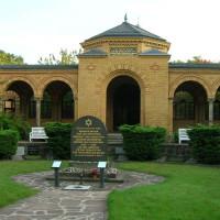 Bouwwerk op het Jüdischer Friedhof Weißensee