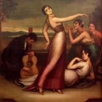 Danseres op schilderij