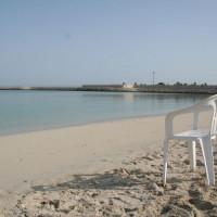 Strandstoel op Jumeirah Beach