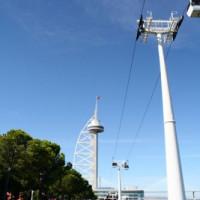 Pyloon van de kabelbaan van Lissabon