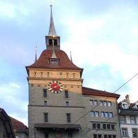 Onder aan de Käfigturm