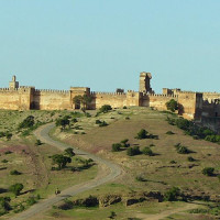 Zicht op de Kasbah Boulaouane