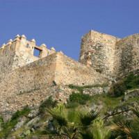 Muren van het Castillo de Gibralfaro