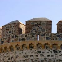 Detail van het Castillo de Gibralfaro