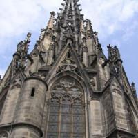 Voorgevel van de Kathedraal van Barcelona