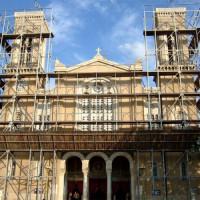 Kathedraal van Athene in de steigers
